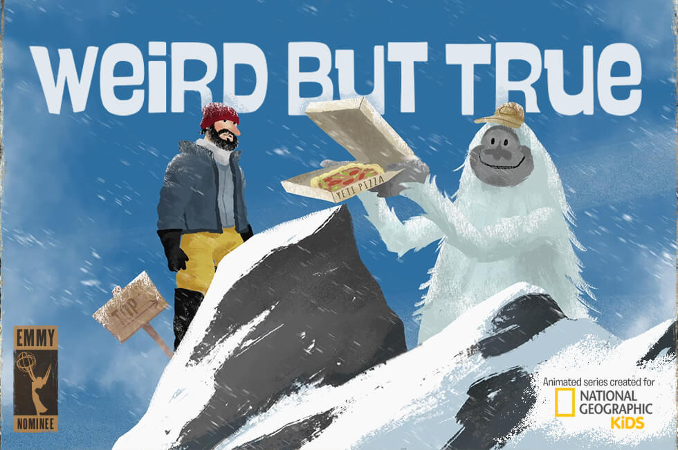 Weird But True is an animated series created for National Geographic Kids.